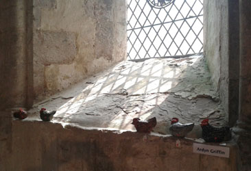 Ardyn Griffin_Hens in church window