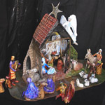 Papier Mache: Nativity Scene07: Stable