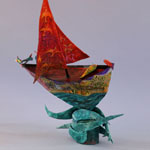 Boat_Parrots and Red Sail 04 - Ardyn Griffin
